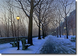 Image of painting titled A Cold Winters Night by artist Alexei Butirskiy