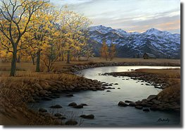Image of painting titled Autumn Stream by artist Alexei Butirskiy