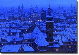 Image of painting titled Distant Steeples by artist Alexei Butirskiy