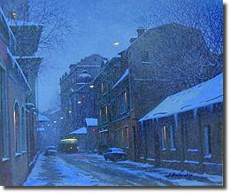 Image of painting titled Evening Flurries by artist Alexei Butirskiy