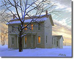 Image of painting titled Farmhouse by artist Alexei Butirskiy