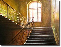 Image of painting titled Stairs I Climb by artist Alexei Butirskiy