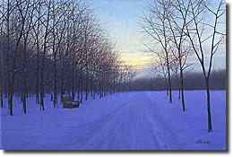 Image of painting titled Winter by artist Alexei Butirskiy