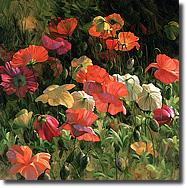 Image of painting titled Iceland Poppies by artist Leon Roulette